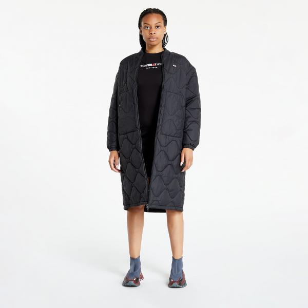 Tommy Jeans Quilted Bomber Coat Black