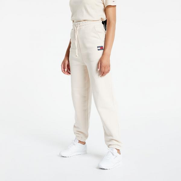 Tommy Jeans Relaxed Hrs Badge Sweatpant Smooth Stone