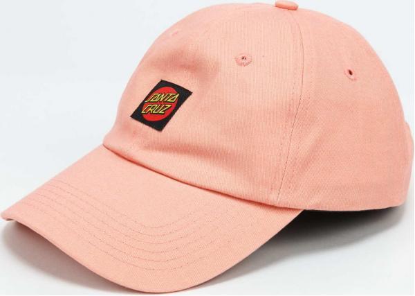 Santa Cruz Classic Dot Label Cap lososová