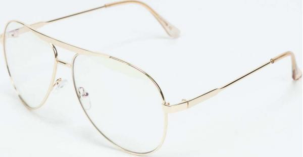 Jeepers Peepers Sunglasses zlaté / průhledné