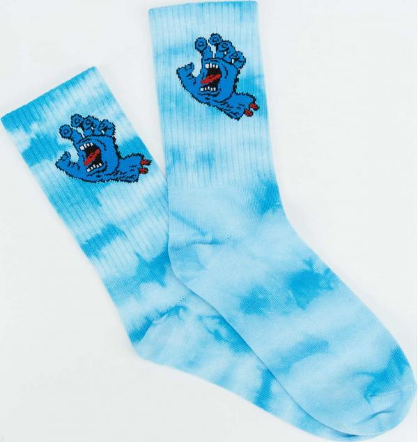 Santa Cruz Screaming Hand Tie Dye Socks modré