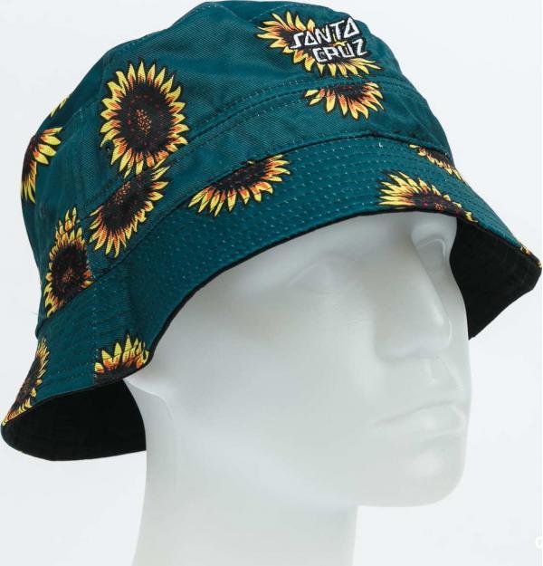Santa Cruz Sunflowers Bucket Hat černý / tmavě zelený / žlutý
