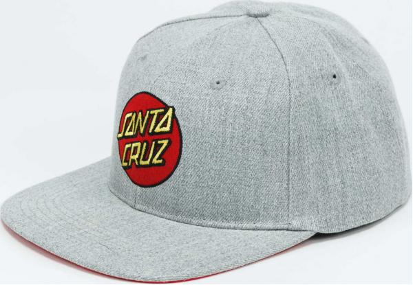 Santa Cruz Classic Dot Snapback melange šedá / červená