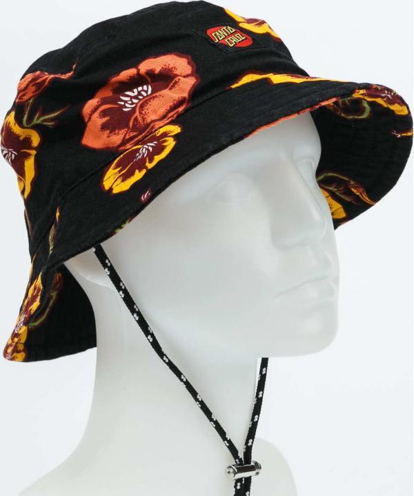 Santa Cruz Poppy Bucket Hat černý / žlutý / oranžový / vínový