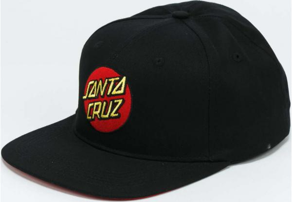 Santa Cruz Classic Dot Snapback černá / červená