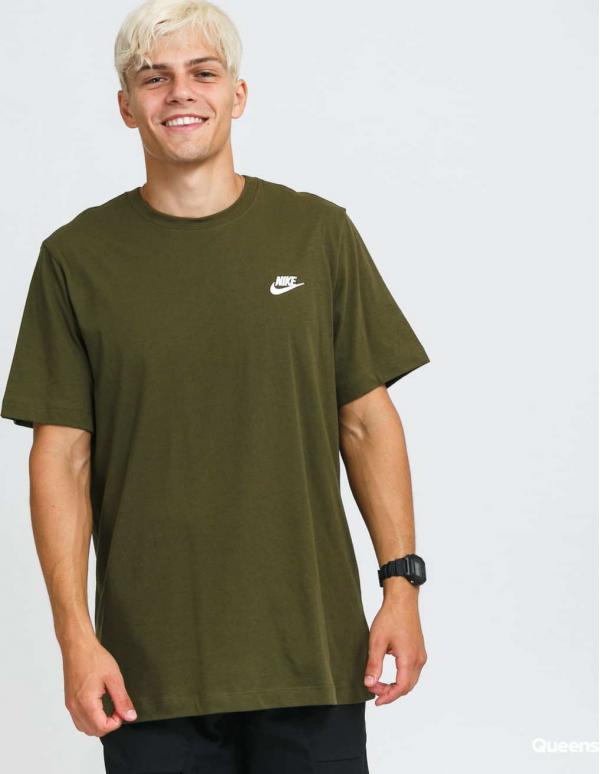 Nike M NSW DF Te SS Top olivové