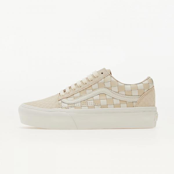 Vans Old Skool Platform (Wowen Leather) White/ Cream