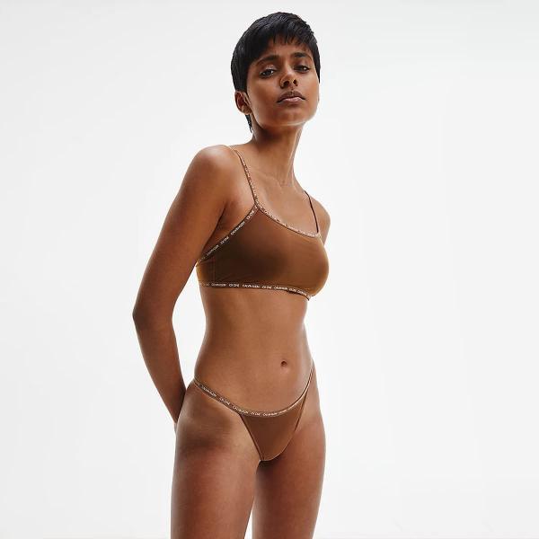 Calvin Klein Thong 2 Pack Cinnamon