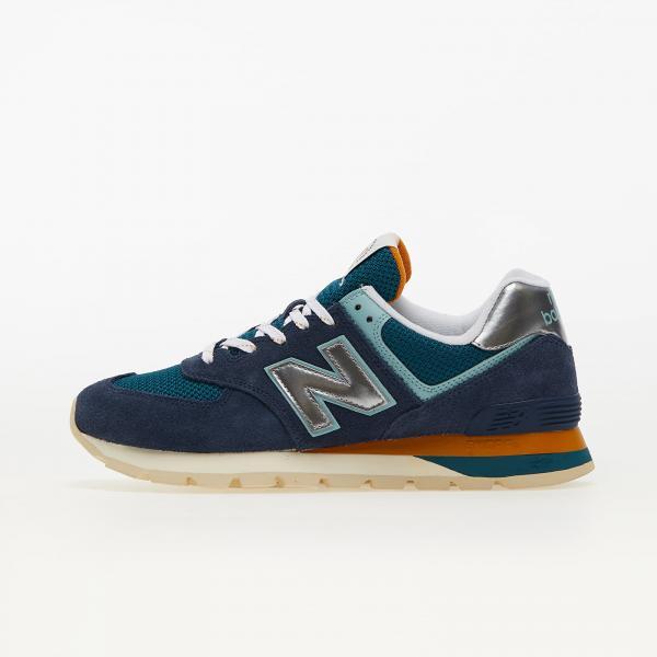New Balance 574 Navy/ Dark Green/ Silver