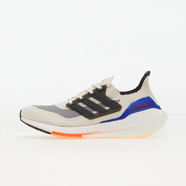 adidas UltraBOOST 21 Worn White/ Carbon/ Solar Red