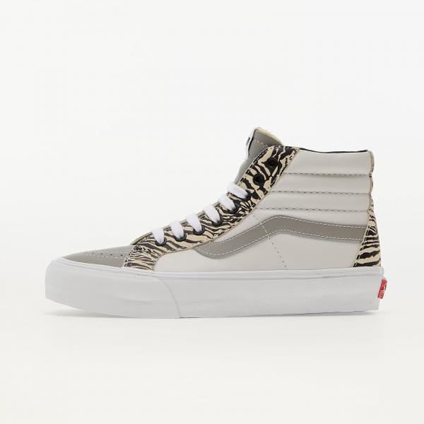 Vans Sk8-Hi Reissue EF (Leather/ Suede) Drizzle/ True White