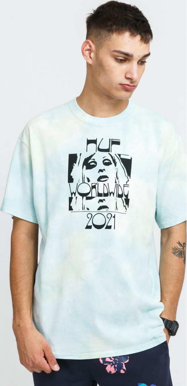 HUF Wasted Darling T-Shirt světle modré / zelené