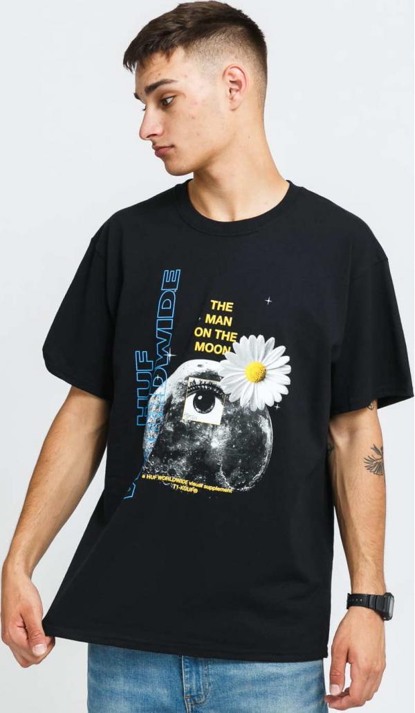 HUF The Man On The Moon T-Shirt černé