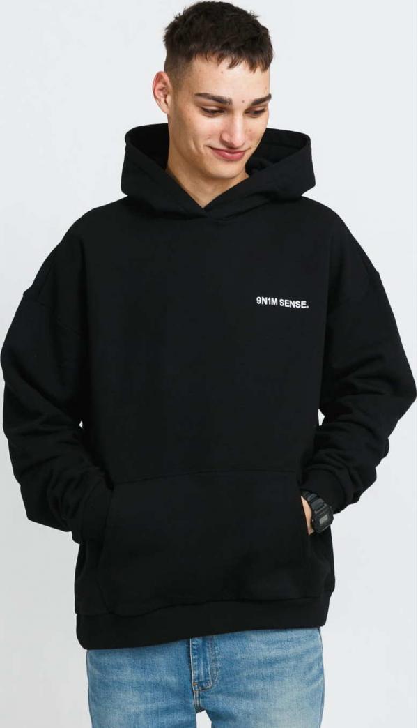 9N1M SENSE. Logo Hoodie černá