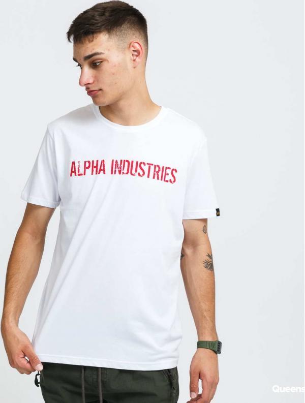 Alpha Industries RBF Moto Tee bílé