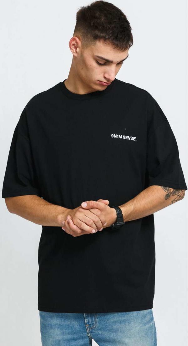 9N1M SENSE. Logo T-Shirt černé