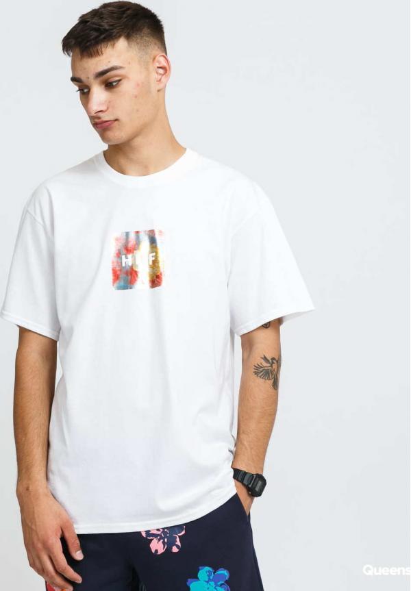 HUF Foil Flower Box Logo T-Shirt bílé