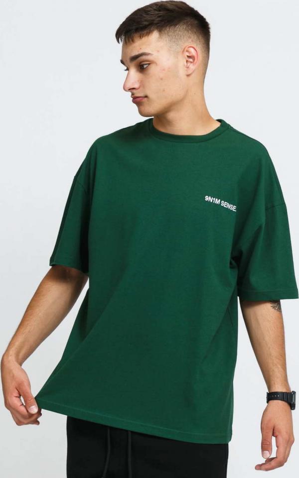 9N1M SENSE. Logo T-Shirt tmavě zelené