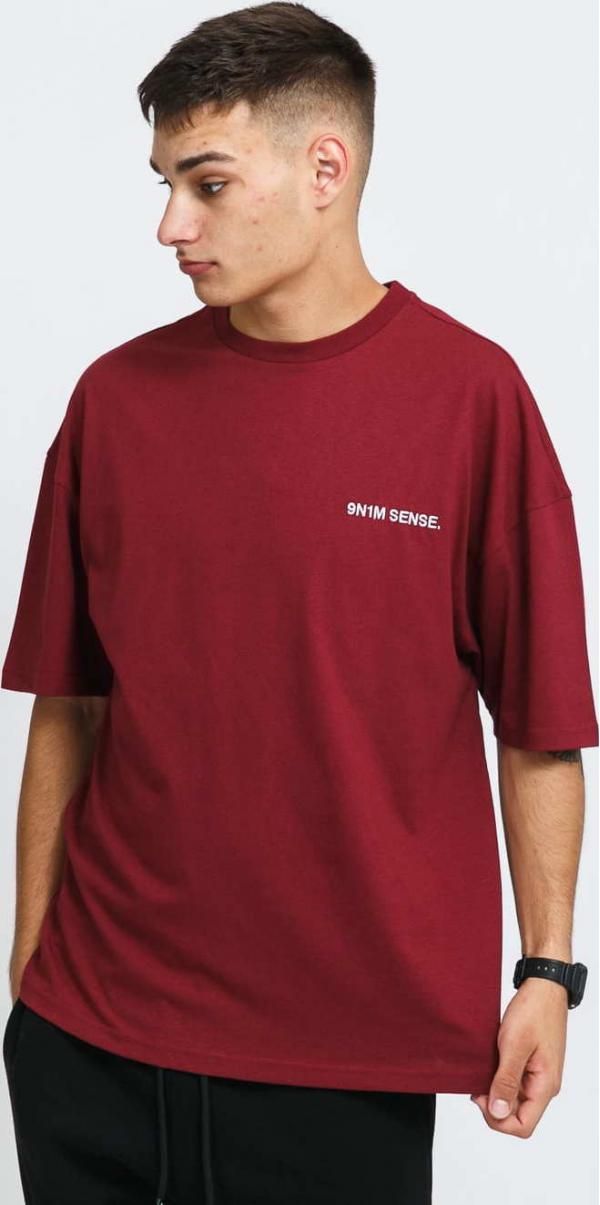 9N1M SENSE. Logo T-Shirt vínové