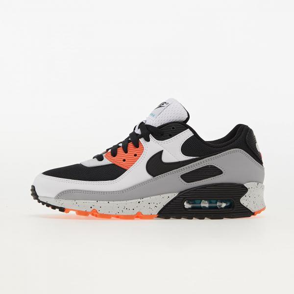 Nike Air Max 90 White/ Black-Turf Orange-Aquamarine