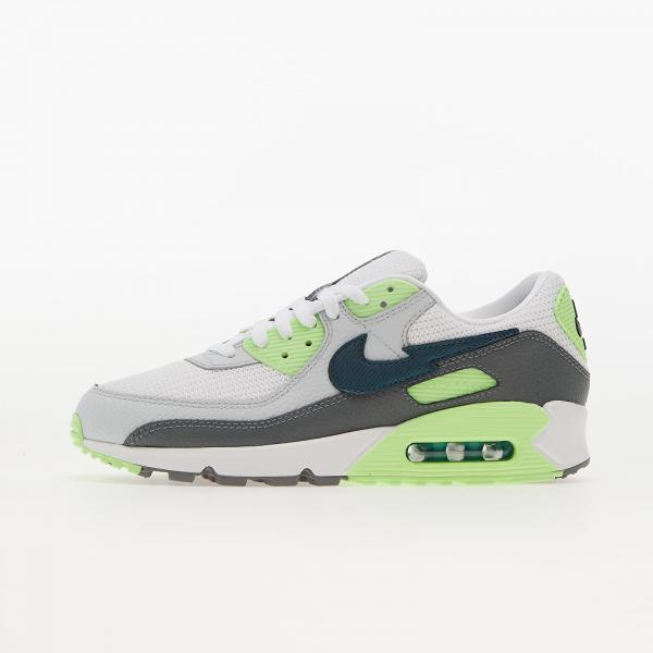 Nike Air Max 90 White/ Aquamarine-Lime Glow-Off Noir