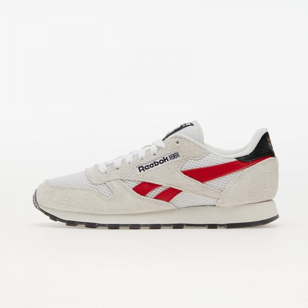 Reebok Classic Leather Pure Grey/ Vector Red/ Gold Metallic