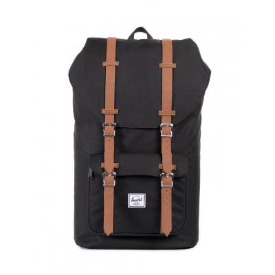 Herschel Supply Little America Black/Tan Synthetic Leather