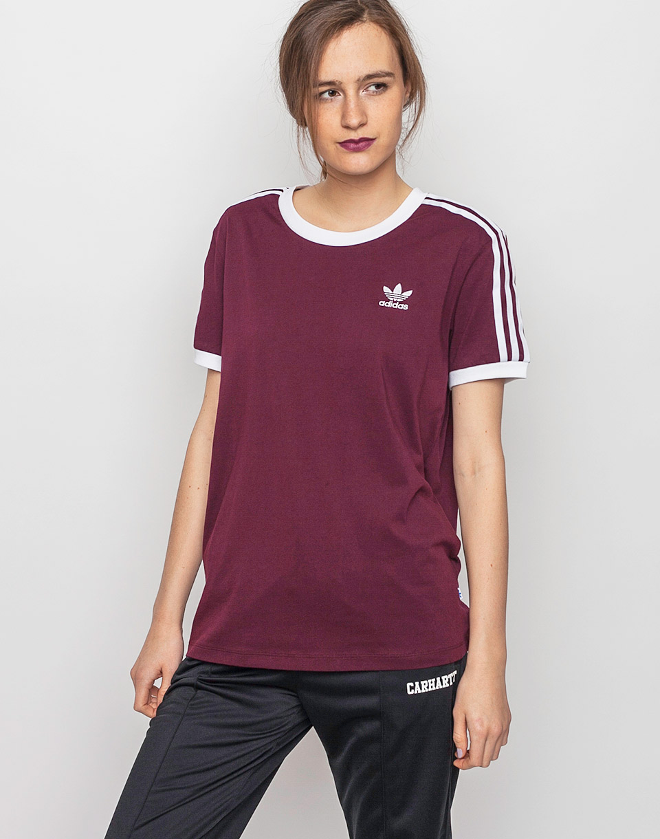 Triko Adidas Originals 3 Stripes Maroon