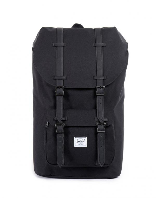 Herschel Supply Little America Black/Black Synthetic Leather