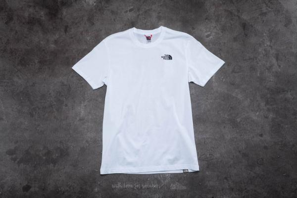 The North Face Short Sleeve Red Box Tee White