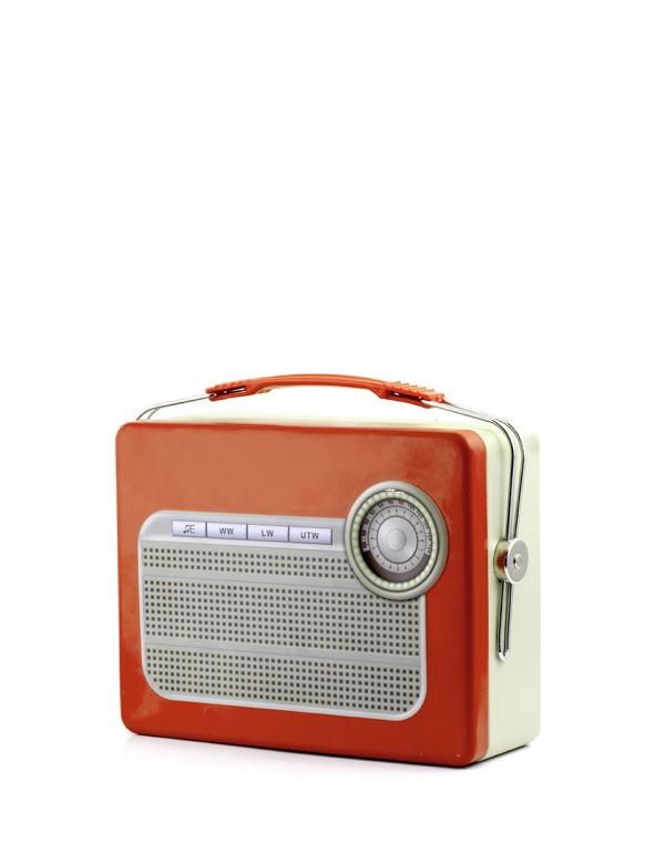 Kikkerland Tin Lunch Box Radio
