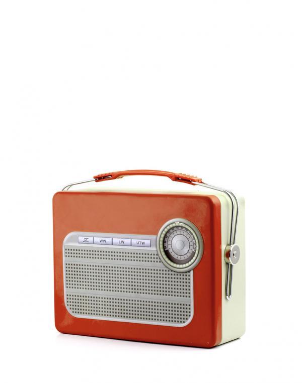 Kikkerland Tin Lunch Box Radio
