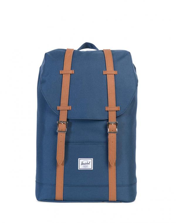 Herschel Supply Retreat Mid-Volume Navy/Tan Synthetic Leather