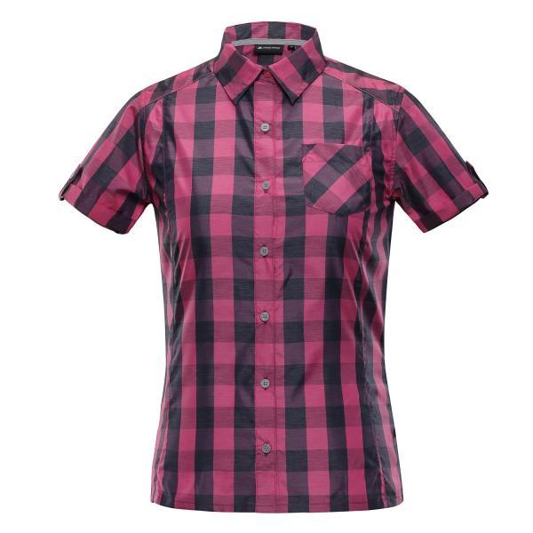 ALPINE PRO LURINA RŮŽOVÁ / FIALOVÁ Dámská košile M