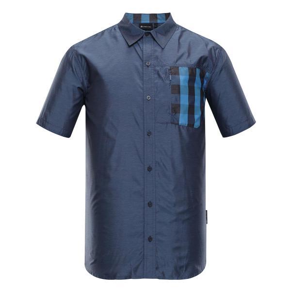 ALPINE PRO PLOS 3 MODRÁ / TYRKYSOVĚ MODRÁ Pánské Košile L