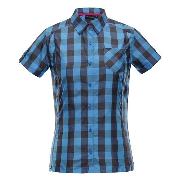 ALPINE PRO LURINA MODRÁ / TYRKYSOVĚ MODRÁ Dámská košile M