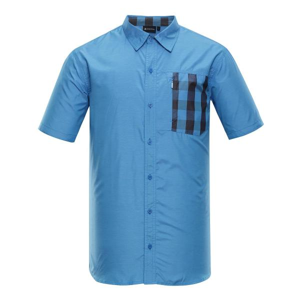 ALPINE PRO PLOS 3 MODRÁ / TYRKYSOVĚ MODRÁ Pánské Košile XL