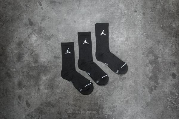 Jordan Everyday Max 3PR Crew Socks Black/ Black/ Black