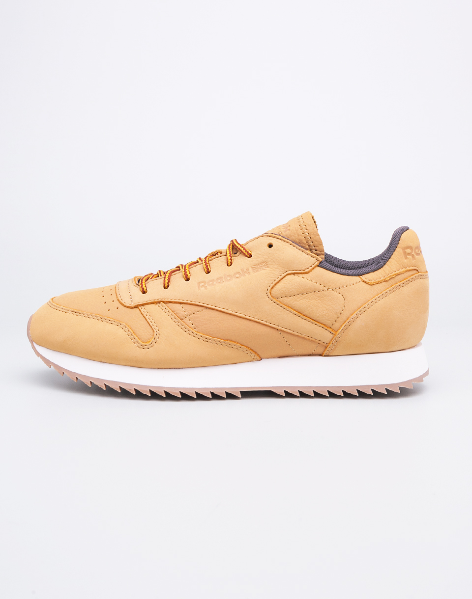 bd303980b34a4 Reebok Classic Leather Ripple WP Golden Wheat Urban Grey 42 ...